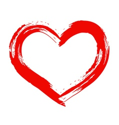 Dry brush painted heart vector image