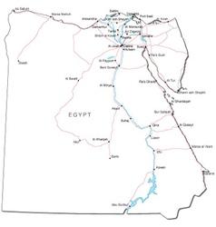 Egypt Black White Map vector image
