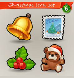 funny christmas icons-6 vector image