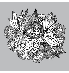Hand-drawn paisley pattern Seamless background vector image vector image