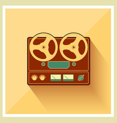 Open Reel Recorder on Retro Vintage background vector image