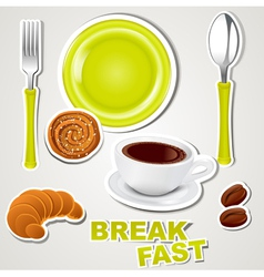 set of icons breakfast vector image vector image