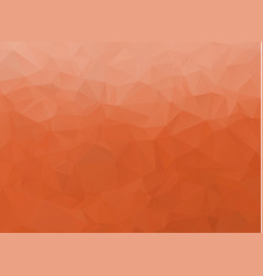 abstract white and orange polygonal background vector image