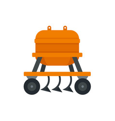 Agricultural equipment icon flat style vector