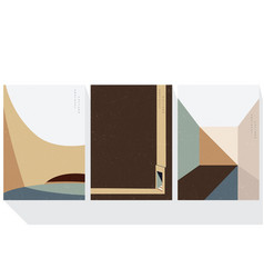 architectural abstract background with geometric vector image