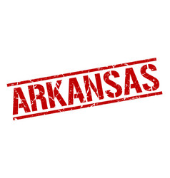 Arkansas red square stamp vector