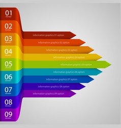 Arrows business growth rainbow vector