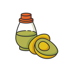 Avocado oil rgb color icon vegan fluid vector