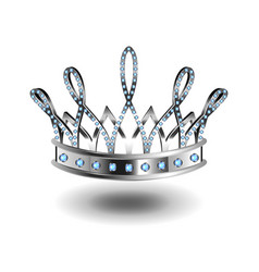 Beauty queen silver crown isolated on white vector