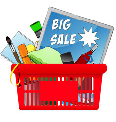 big sale chopping card with objects vector image