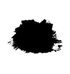 brush stroke isolated white background black vector image