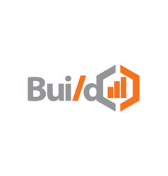 build business logo design template vector image