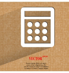 calculator Flat modern web design on a flat vector image
