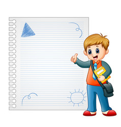 children are learn something on paper vector image