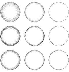 Circle Shape Set vector