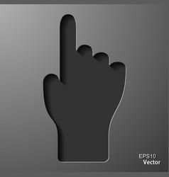 Click hand icon pointer eps8 vector
