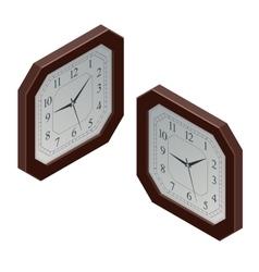 Clock isometric clock design concept vector image vector image