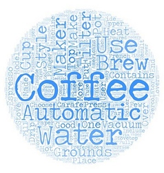 Coffee Maker Style Guide text background wordcloud vector
