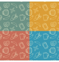 Colorful Octoberfest Seamless Background vector image
