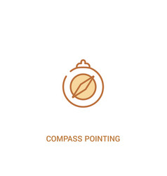 Compass pointing north concept 2 colored icon vector