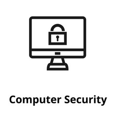 computer security line icon vector image