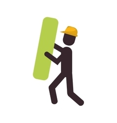 Construction man element work vector