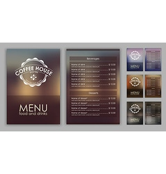 Design coffee menu with blurred background vector image