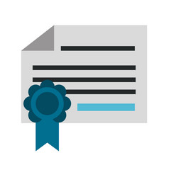 diploma or certificate icon image vector image
