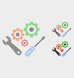 Dot instrumental tools icons vector