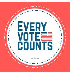 every vote counts vector image