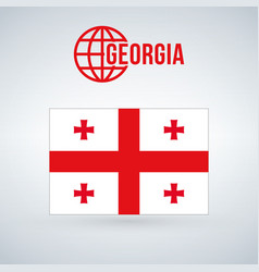 flag of georgia isolated on modern background vector image