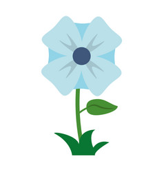 Flower romantic natural icon vector