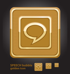 Glamour golden icon - speech bubble vector