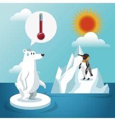 Global warming design vector