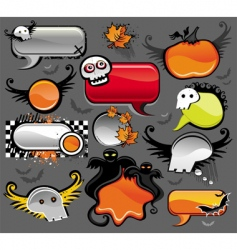 halloween speech bubbles vector image