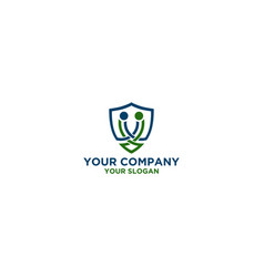 handshake cooperation secure logo design vector image