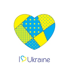 Heart of Ukraine vector image