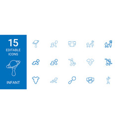 infant icons vector image
