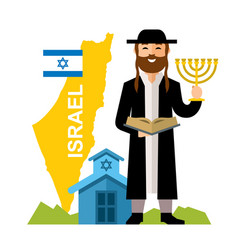 Israel country concept flat style colorful vector