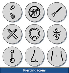 light piercing icons vector image