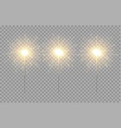 light sparkler decoration holiday sparkler vector image