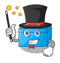 Magician tissue box isolated on the mascot vector