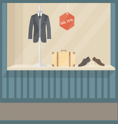 man suit fashion store front display mannequin vector image