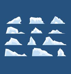 melting icebergs snow arctic bergs ice north vector image
