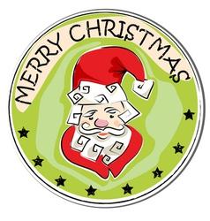 merry christmas retro vector image