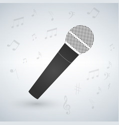 microphone isolated on white background with vector image