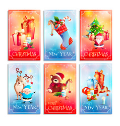 new year cartoon cards vector image