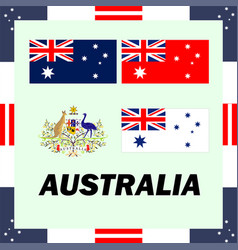 Official government elements of australia vector