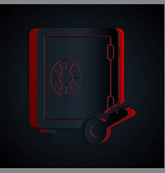 Paper cut prostake icon isolated on black vector