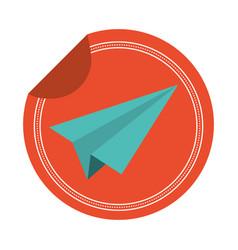 paper plane sticker vector image